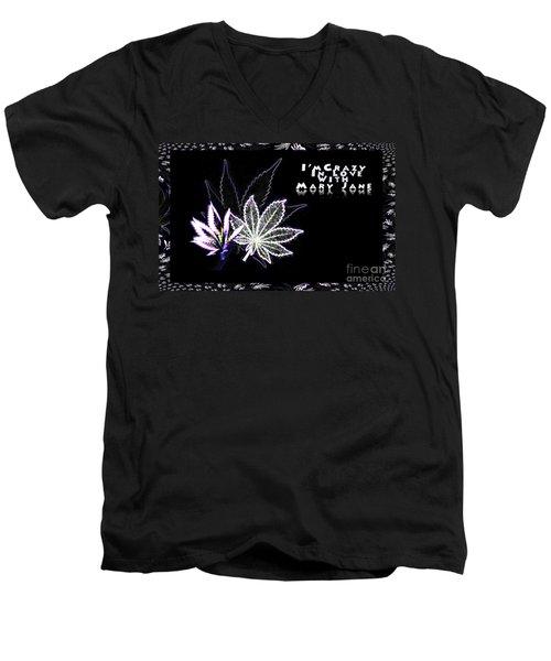 Crazy About Mary Jane Men's V-Neck T-Shirt by Jacqueline Lloyd