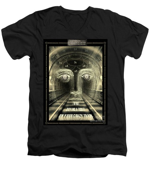 Crazy Train Men's V-Neck T-Shirt