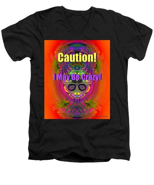 Crazy Men's V-Neck T-Shirt