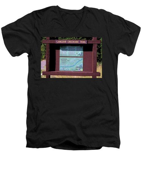 Creekside Trail Men's V-Neck T-Shirt