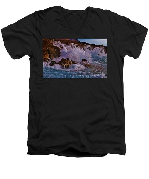 Crescendo Men's V-Neck T-Shirt by Craig Wood