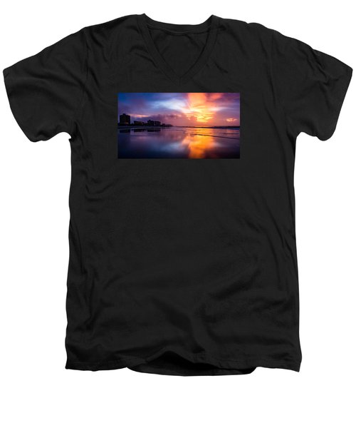 Crescent Beach Sunrise Men's V-Neck T-Shirt