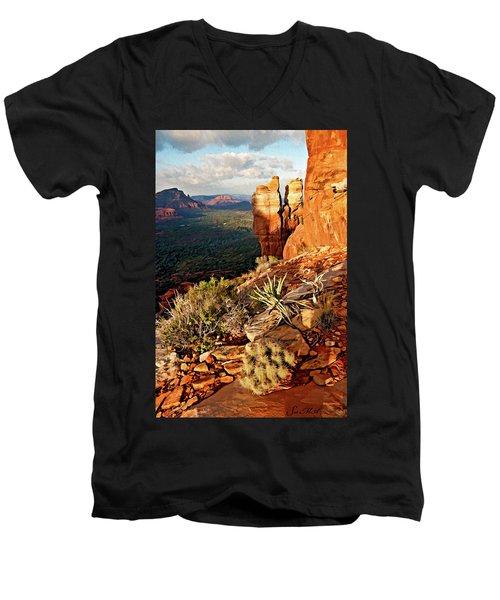 Crimson Cliffs 08-064 Men's V-Neck T-Shirt