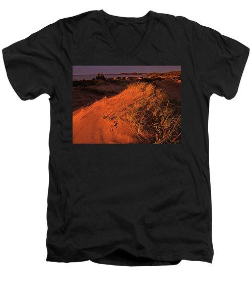 Crimson Dunes Men's V-Neck T-Shirt