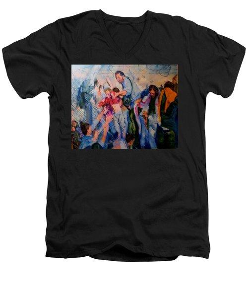 Crisis, What Crisis ? Men's V-Neck T-Shirt