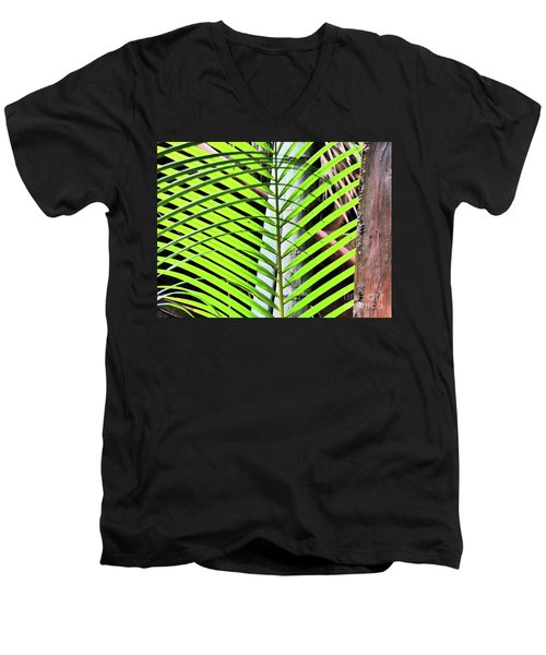 Crisscrossing Palms Men's V-Neck T-Shirt