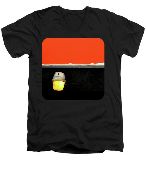 Men's V-Neck T-Shirt featuring the photograph Crooked by Ethna Gillespie