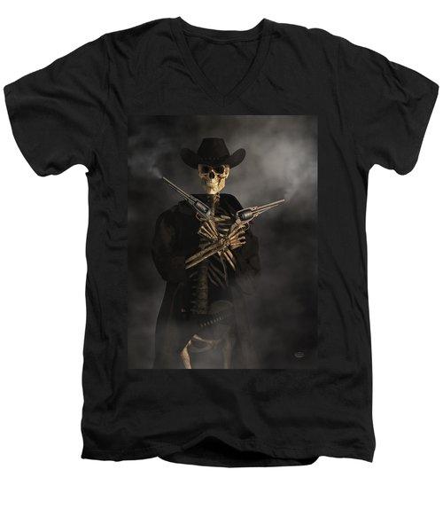 Crossbones Men's V-Neck T-Shirt