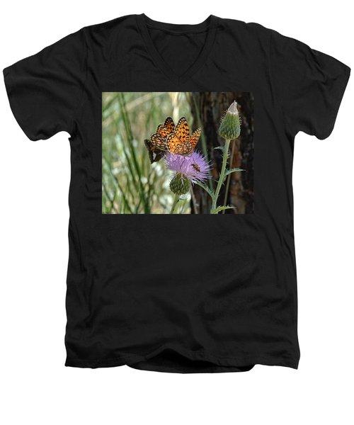 Crowded Thistle Men's V-Neck T-Shirt