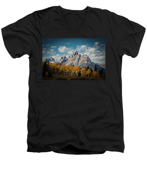 Crown For Tetons Men's V-Neck T-Shirt
