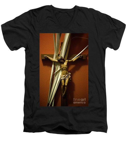 Crucifix Men's V-Neck T-Shirt
