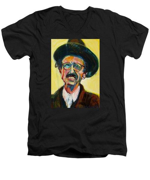 Crumb Men's V-Neck T-Shirt by Les Leffingwell