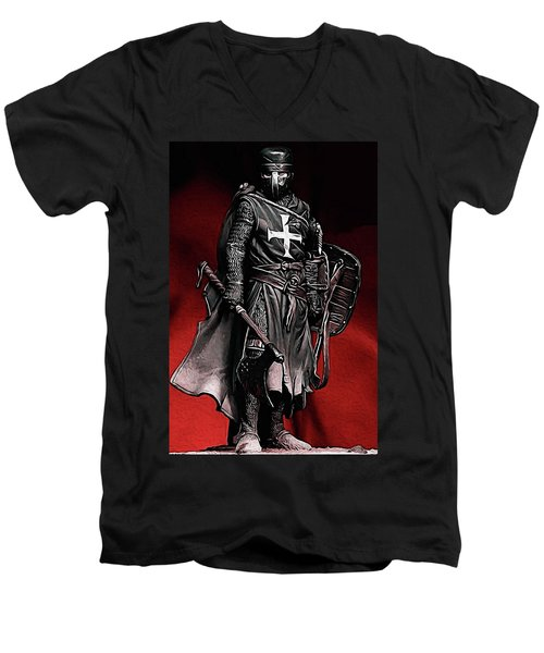 Crusader Warrior - Medieval Warfare Men's V-Neck T-Shirt