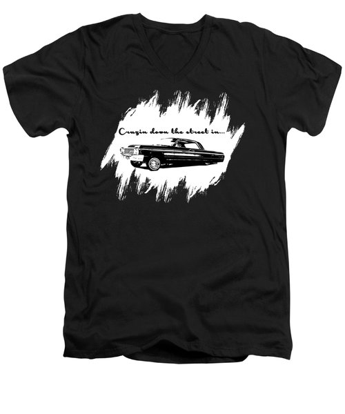 Cruzin Down The Street Men's V-Neck T-Shirt