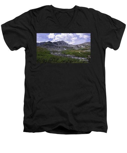 Crystal Peak 13852 Ft Men's V-Neck T-Shirt