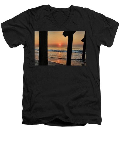 Crystal Sunrise Men's V-Neck T-Shirt