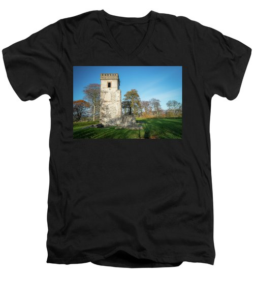 Cuchulains Castle Men's V-Neck T-Shirt by Marty Garland