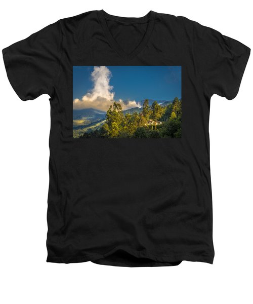 Giant Over The Mountains Men's V-Neck T-Shirt