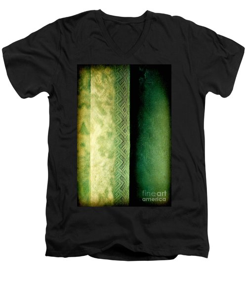 Men's V-Neck T-Shirt featuring the photograph Curtain by Silvia Ganora
