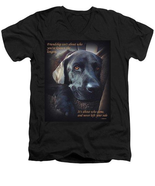 Custom Paw Print Midnight Men's V-Neck T-Shirt