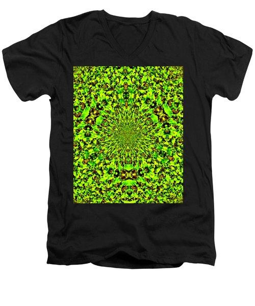 Cuz I Eats Me Spinach Men's V-Neck T-Shirt by Bob Wall