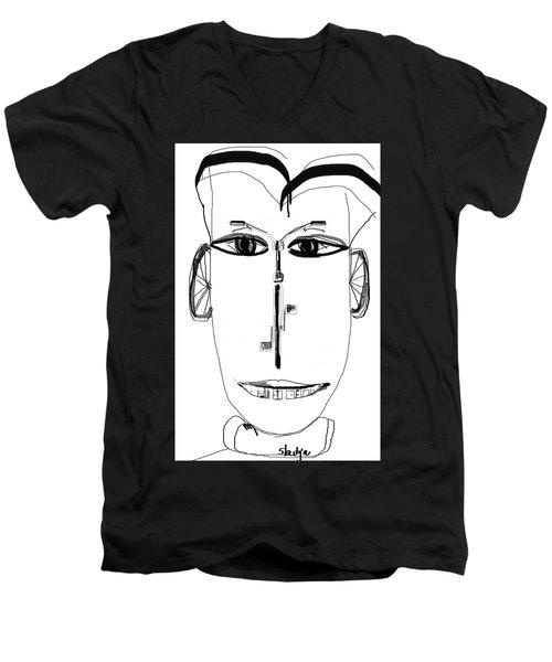 Cyclist Men's V-Neck T-Shirt by Sladjana Lazarevic