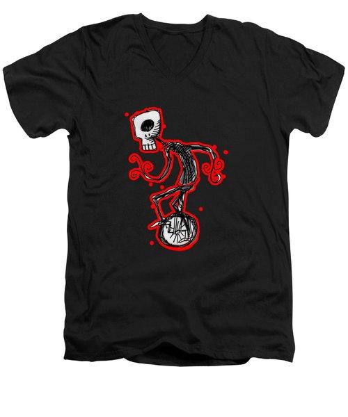 Cyclops On A Unicycle Men's V-Neck T-Shirt by Matt Mawson