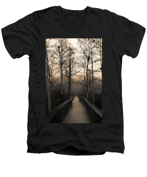 Cypress Boardwalk Men's V-Neck T-Shirt