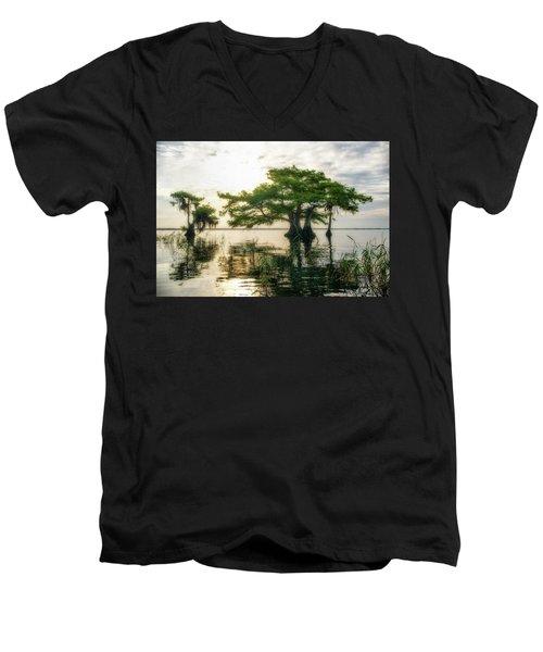 Cypress Bonsai Men's V-Neck T-Shirt