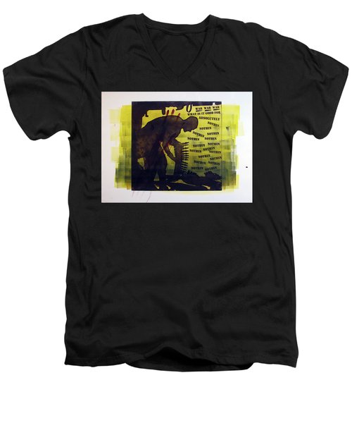 D U Rounds Project, Print 16 Men's V-Neck T-Shirt