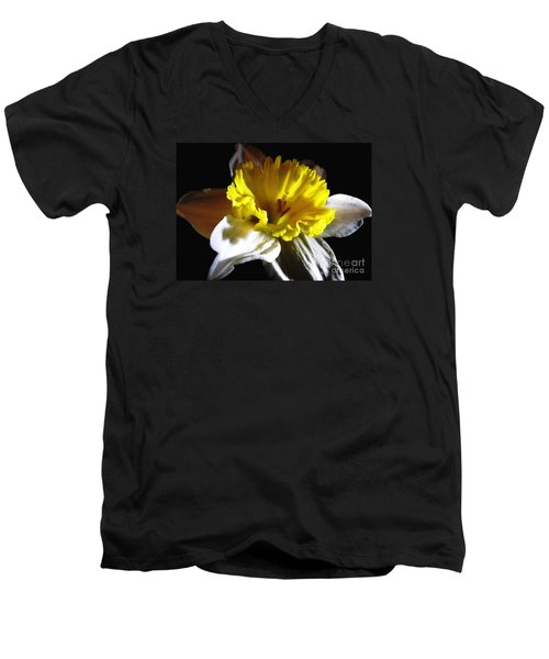 Men's V-Neck T-Shirt featuring the photograph Daffodil 2 by Rose Santuci-Sofranko