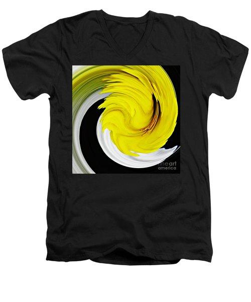 Daffodil Twist Men's V-Neck T-Shirt by Sarah Loft