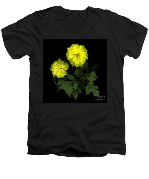 Dahlia Men's V-Neck T-Shirt by Christian Slanec