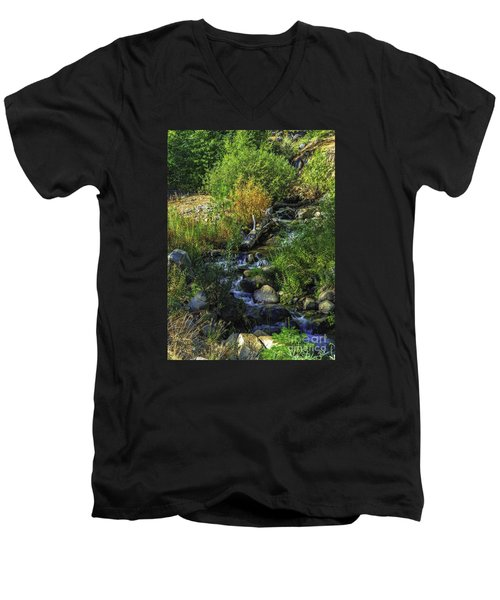 Men's V-Neck T-Shirt featuring the photograph Daily Greens-2 by Nancy Marie Ricketts