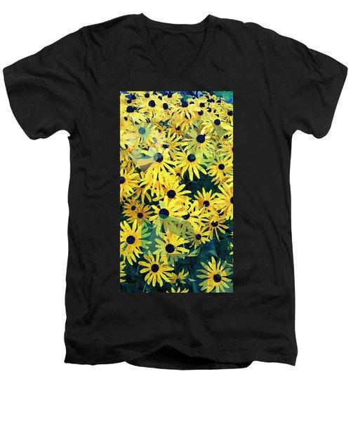 Daisy Do Men's V-Neck T-Shirt by Karl Reid