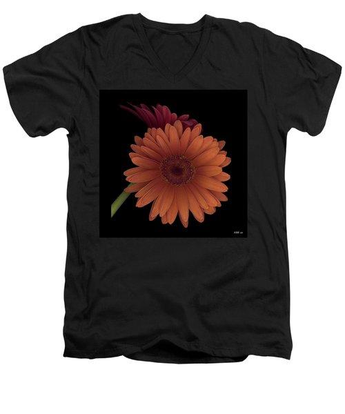 Daisy Tilt Men's V-Neck T-Shirt by Heather Kirk
