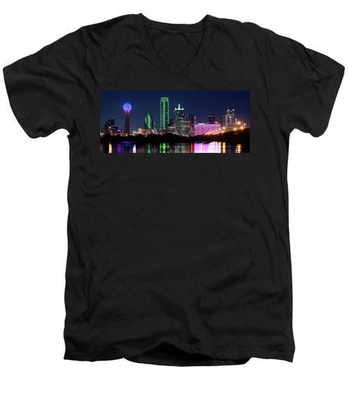 Dallas Colors Pano 2015 Men's V-Neck T-Shirt