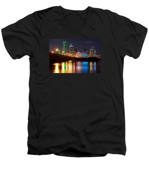 Dallas Reflections Men's V-Neck T-Shirt