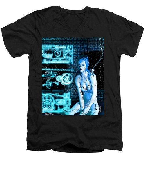 Damaged Cyborg Men's V-Neck T-Shirt