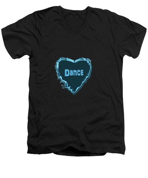 Dance Men's V-Neck T-Shirt by Linda Prewer