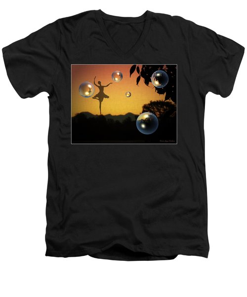 Men's V-Neck T-Shirt featuring the photograph Dance Of A New Day by Joyce Dickens