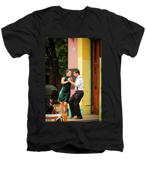 Dancing Tango Men's V-Neck T-Shirt