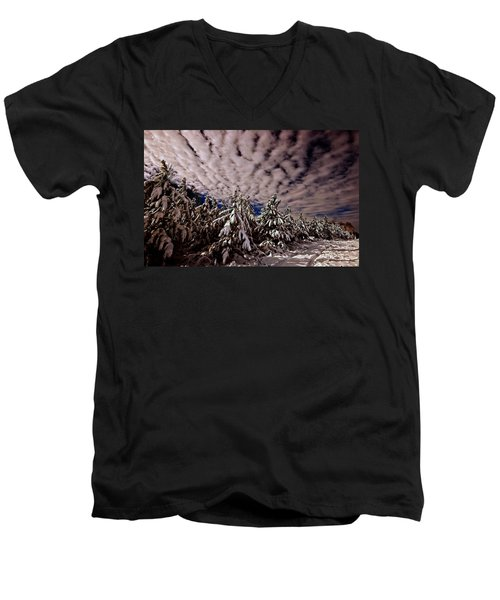 Dancing Trees  Men's V-Neck T-Shirt by John Harding