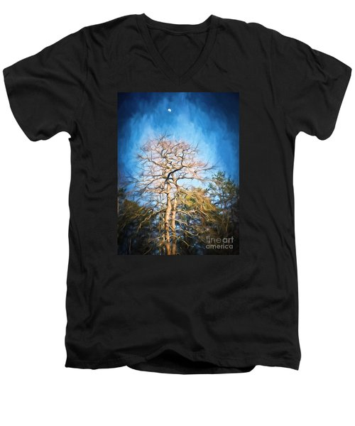 Dancing Under The Moon Men's V-Neck T-Shirt by Kerri Farley