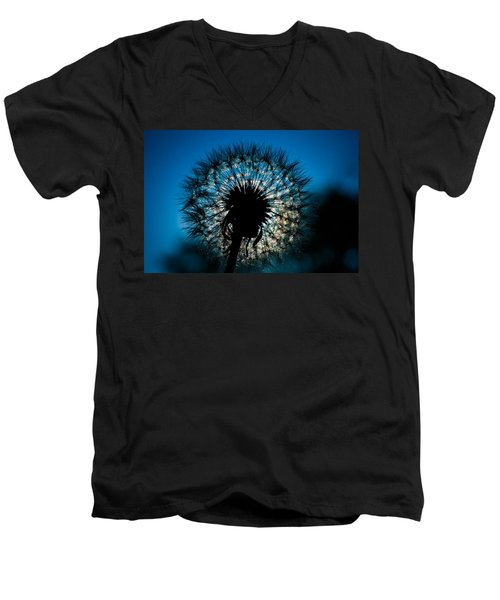 Men's V-Neck T-Shirt featuring the photograph Dandelion Dream by Jason Moynihan