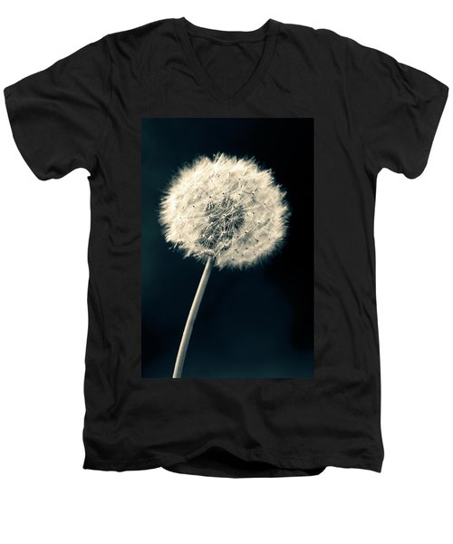 Men's V-Neck T-Shirt featuring the photograph Dandelion by Ulrich Schade