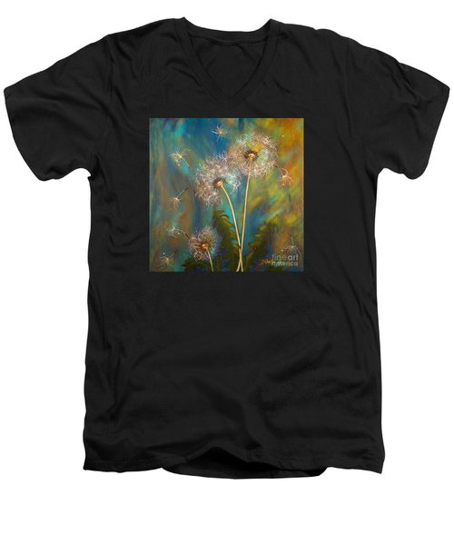 Dandelion Wishes Men's V-Neck T-Shirt