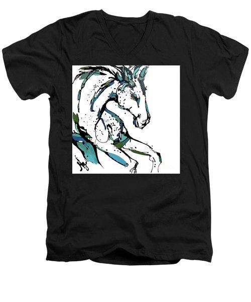 Danny Men's V-Neck T-Shirt by Nicole Gaitan