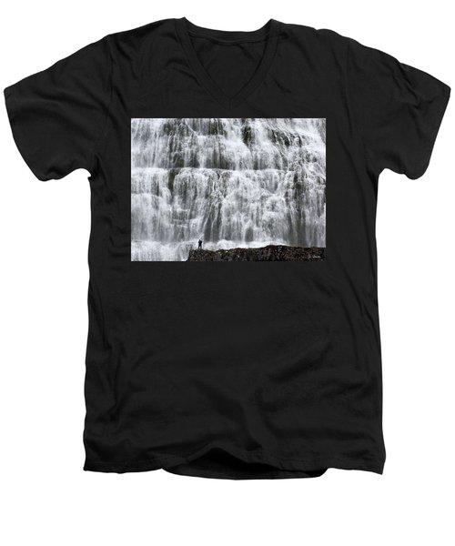 Men's V-Neck T-Shirt featuring the photograph Dynjandi Daredevil by Joe Bonita