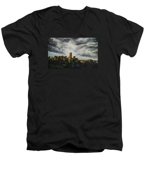 Dark Clouds Approaching Men's V-Neck T-Shirt by Ron Richard Baviello